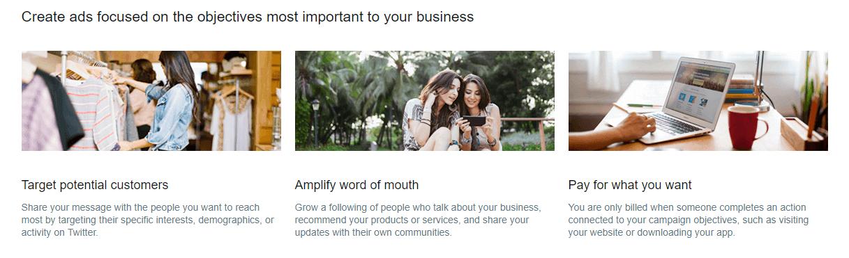 Twitter ads - marketing objectives