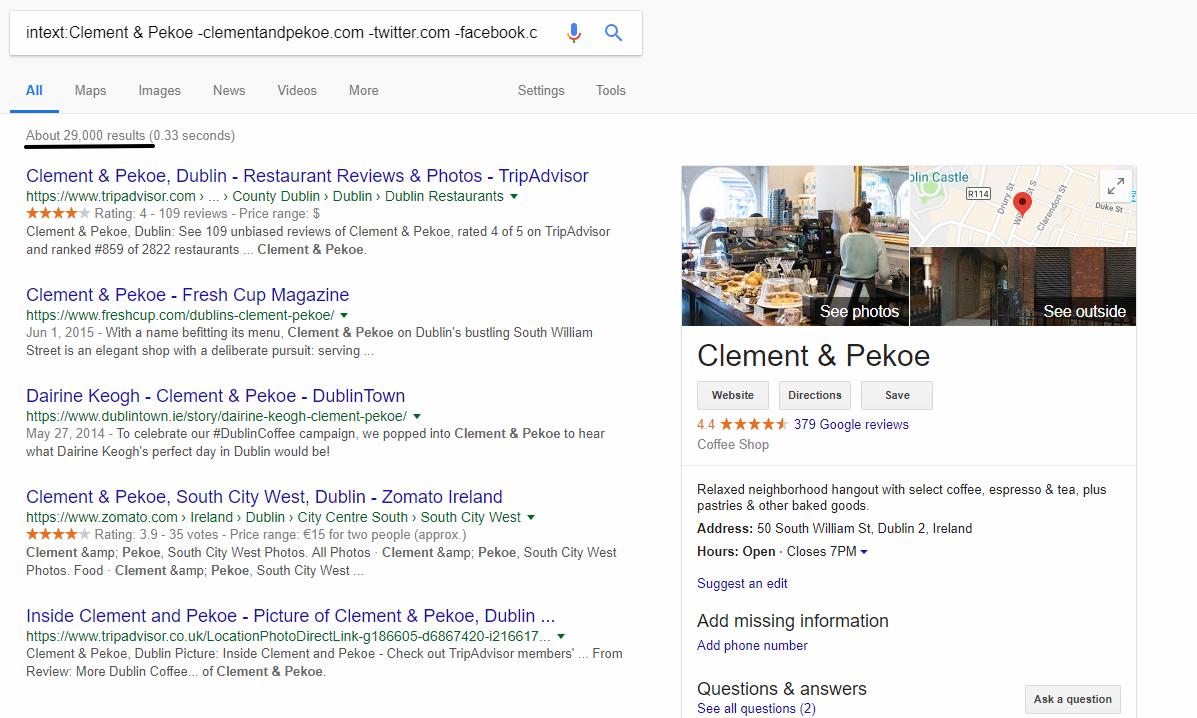 google intext search