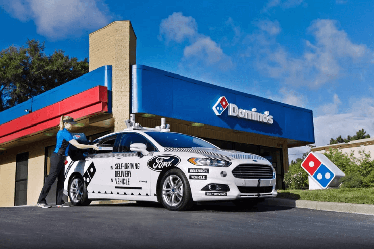 Domino's Pizza and Ford Fusion Hybrid Autonomous Research Vehicle