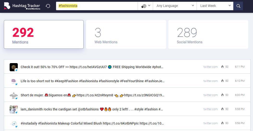 hashtag tracker search