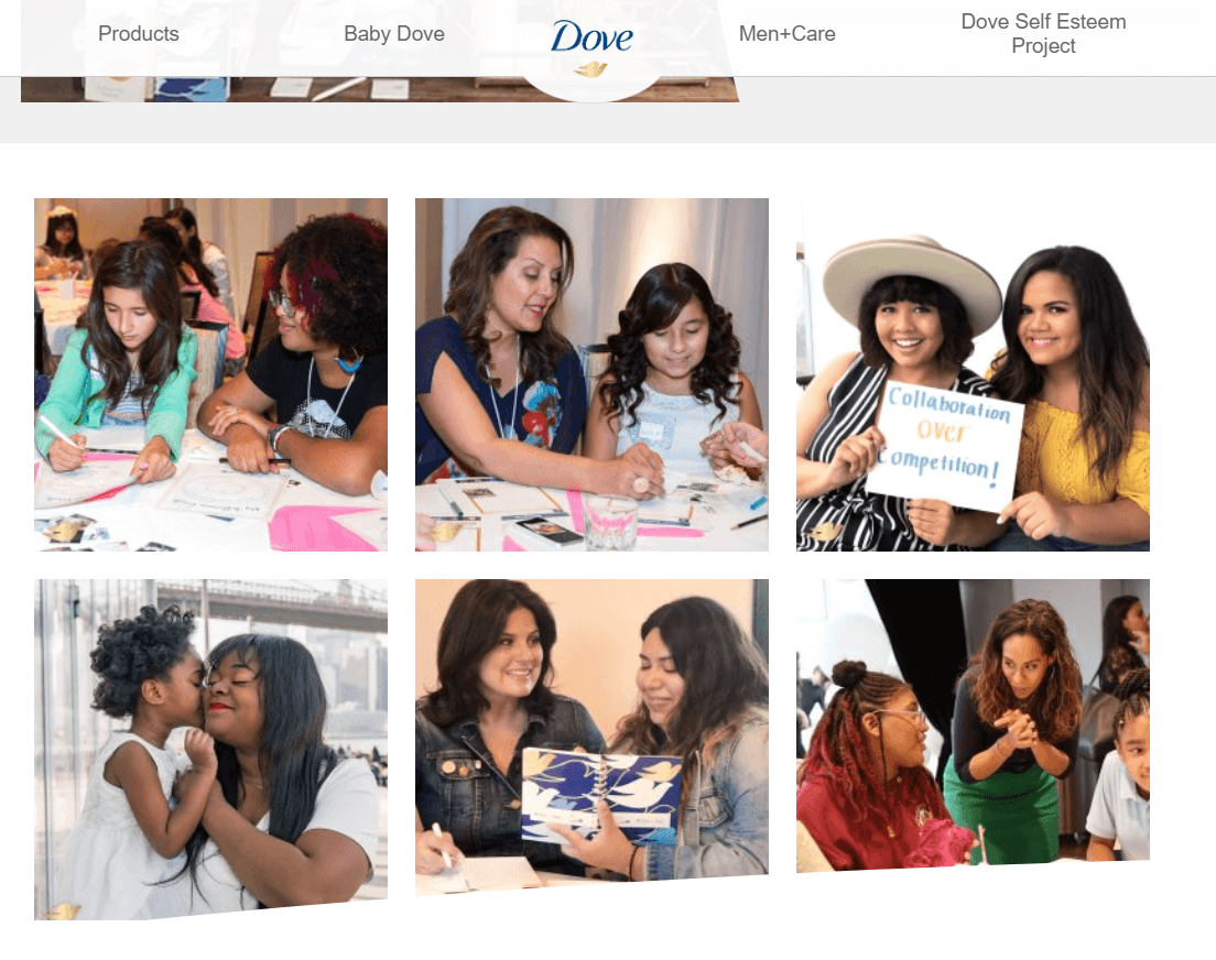 Dove Real Beauty Productions platform