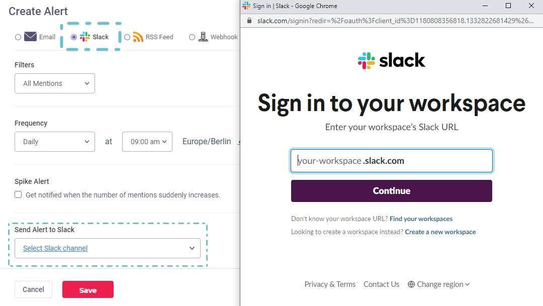 slacks integration brandmentions